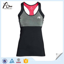 Polyester Gym Wear Sport Singuletts Frauen Athlet Singlet