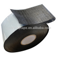 Self adhesive bitumen tape / anti corrosion tape / PP woven fiber tape mesh membrane tape for roof concrete waterproof