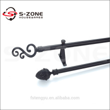 support fancy bay window curtain poles for building