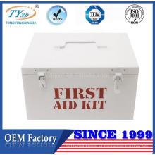 caja de kit de primeros auxilios vacío de fábrica de chapa solamente