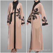 Vente chaude Moyen-Orient, Malaisie, Indonésie, Singapour, Vietnam Islamique Vêtements coton brodé Abaya