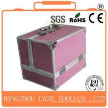 Neue professionelle dauerhafte rosa Aluminium Kosmetikkoffer