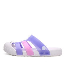 Superstarer Summer Wholesalers Soft EVA Sole Ladies Clog Shoes PVC Suffering Water Clear Jelly Shoes Clogs for Women
