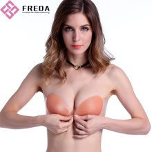 Silicone Push Up Strapless Bra Online com Side-Wings