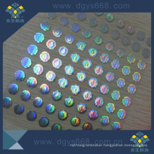 Hologram Label Sticker with Transparent Wash Aluminum Effect