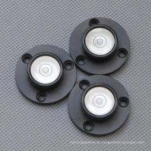 Mini nível de bolha redonda com base de metal