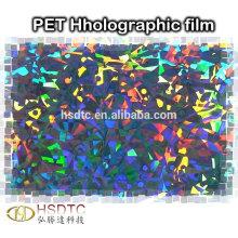 Película holográfica metalizada de PET Filme de laser colorido de alta qualidade