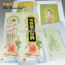 Último livro de tatuagem com esculpir padrão flash e fotos