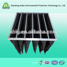 medium efficiency bag pocket type compressed micro pleated air filter