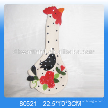 Personalized chicken shaped ceramic animal spoon rest