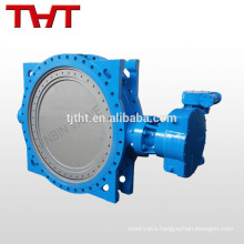 Triple offset economic price worm gear / electronic butterfly valve