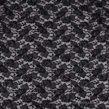 Schwarzer Stretch-Nylon-Spandex-Strickspitzenstoff 150CM