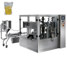 Automatic Rotary Premade Pouch Olive Oil  Packaging Machine For Liquid