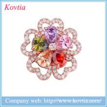 Broches de fleurs de strass de mariage robes de femmes broches Chine fournisseurs yiwu bijoux