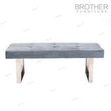 Commercial hotel furniture long upholstered stool ottoman with high quality
