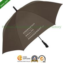 Auto Open Printed Golf Umbrellas with Quality Fiberglass Ribs (GOL-0027FA)