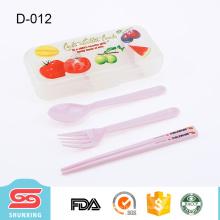 Utensílios de mesa de plástico portátil de grau alimentício para crianças