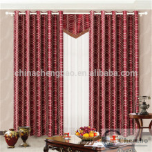 Luxury curtain design metal eyelets polyester curtain
