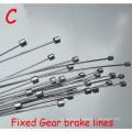Road bike MTB Bike Fixed Gear Bicycle Brake Line Shift Shifter Gear Brake Cable Sets Core Inner Wire Silver Steel Speed line