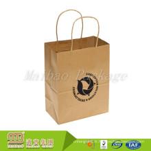 De Bonne Qualité Sac à papier réutilisable adapté aux besoins du client de papier d'emballage de Brown Kraft en gros