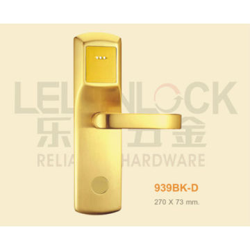 Top quality brass material card door lock with lever handle