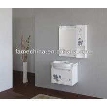 2013 Glass Doors Armario de baño de madera clásico blanco