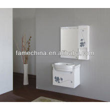2013 Glass Doors White classic wooden bathroom cabinet