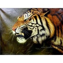 Pintura a óleo pintada mão do tigre de 100%