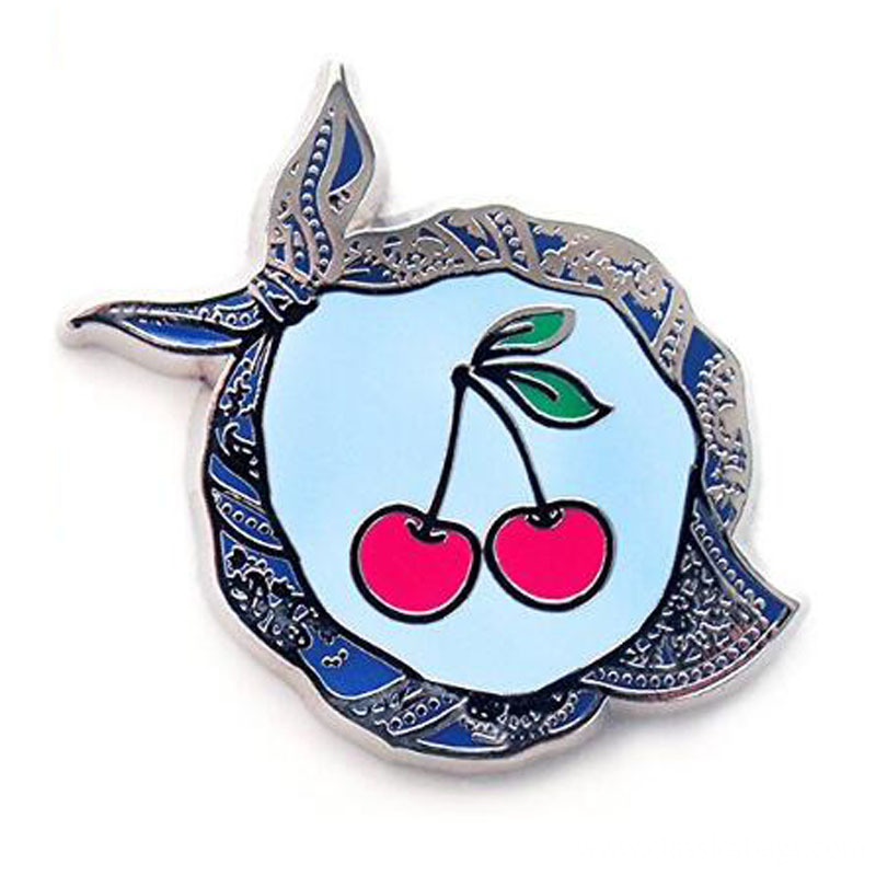 Cherry Lapel Pin Hard Enamel Pin