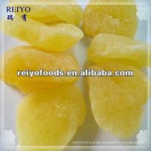 Getrockneter Apfel mit Zucker