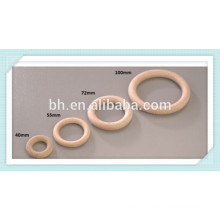 Round Beechwood Wooden O Rings 40mm 55mm 72mm 100mm