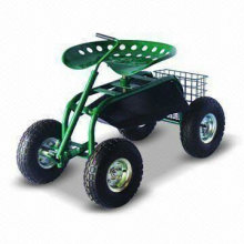 Garden Scoot with Swivel Seat