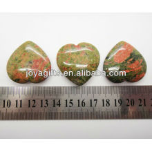 Natural unakite shape heart 35MM