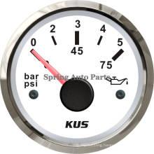Popular 52mm Mechanical Oil Pressure Gauge 0-5 Bar with Backlight