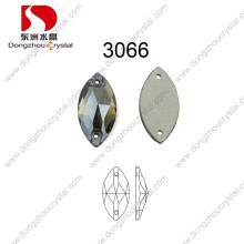 Dz-3066 cheval yeux coudre sur verre strass pierre en gros