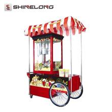 Chariot commercial de popcorn de bruit professionnel professionnel parfumé de la CE à vendre
