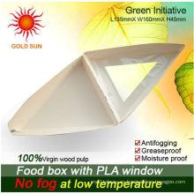 Caja de alimentos frescos (W170) con pulpa de madera 100%