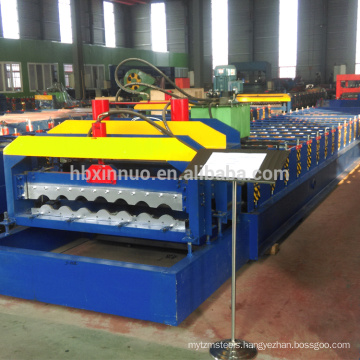 new design 830 glazed tile roofing sheet roll forming machine