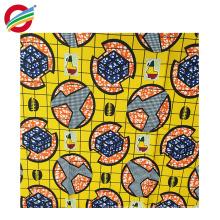 Patrons de cire de polyester pur imprimés africains tissu tissé à vendre