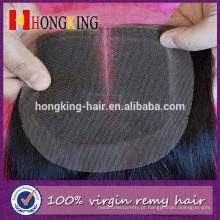 Fechamento dianteiro do laço do cabelo do Mongolian diferente das texturas