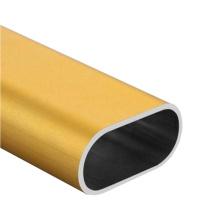 Tubo de aluminio personalizado tubo ovalado de extrusión de aluminio