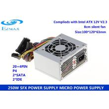 Fuente de alimentación de la computadora fábrica ezmax smps 250w
