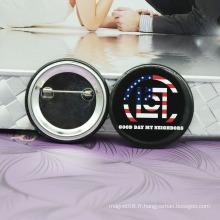 Nouvellement promotionnel Button Badge avec logo imprimé / étain Badges Plaques métalliques Logos de la marque