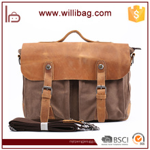 Hot Selling Vintage Customized Satchel Shoulder Bag For Men Canvas Messenger Bag