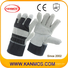 Patched Palm Industrial Safety Cowhide Split Leather Hand Work Gloves (11005-1)