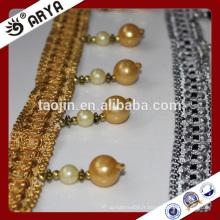 Liquidation du produit en stock 2016 pour le rideau de canapé Oreiller de perles artificielles Frange en perles