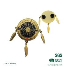 Modificado para requisitos particulares Insignia suave del Pin del corchete del esmalte dos del logotipo de Tessel (XD-MB-01)