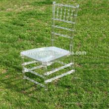 Wedding résine en plastique Tiffany chaise acrylique transparente