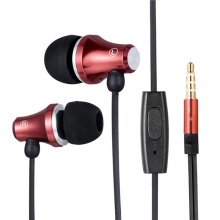 In-ear Wire Earphone Red color