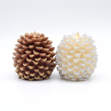 Battery Operated moving flame Pine Cone Candle